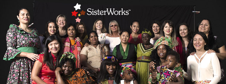 Sisterworks logo and profiles