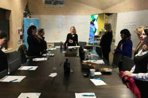 Practicing mindfullness @ How To Look After Yourself as a CP Breakfast June 2018